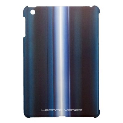 Ipad case – Teal vertical white stripe