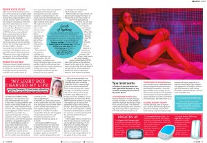 TOP-SANTE-UK-MAGAZINE---SHINE-ON-article-quoting-Leanne-as-Color-and-Light-expert-3
