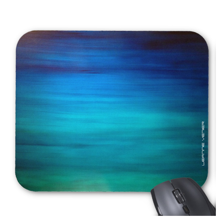 Healing Colors Mousepad in Balancing Teals & Blues