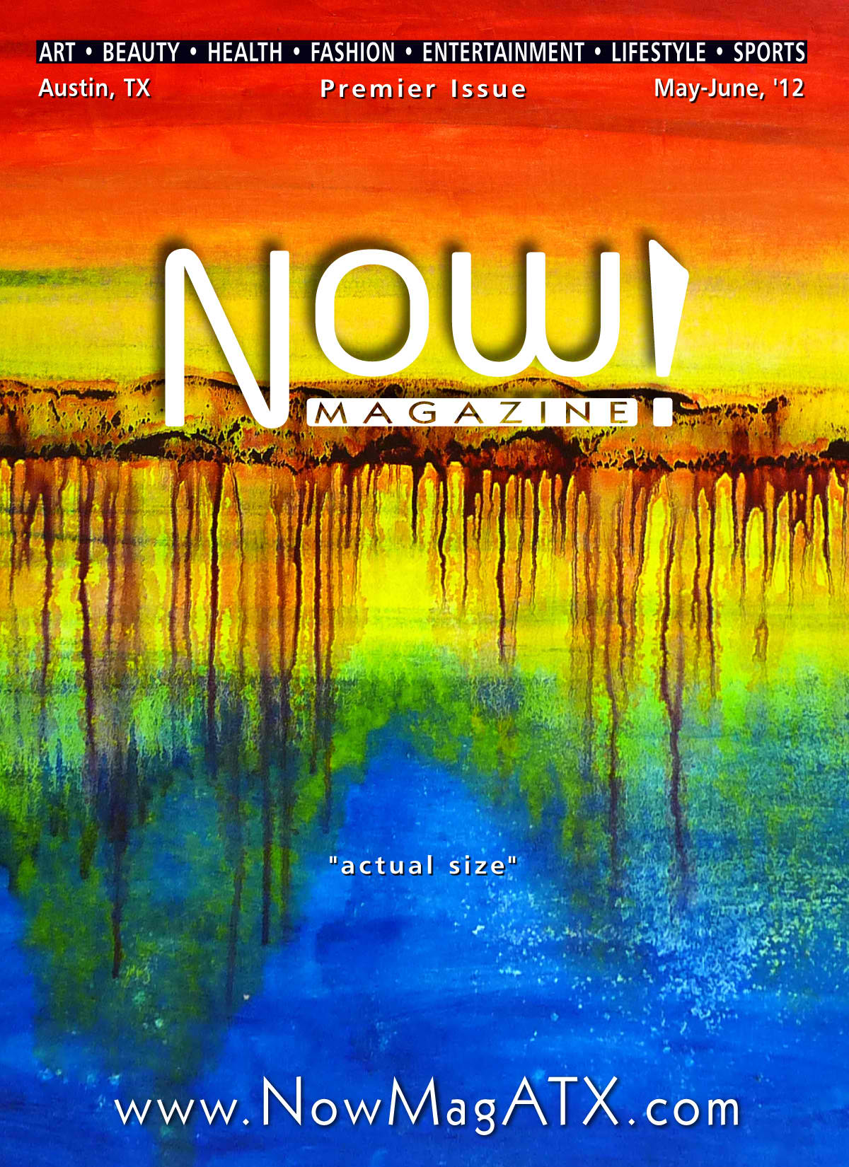 NOW! Magazine Cover featuring artwork by Leanne Venier