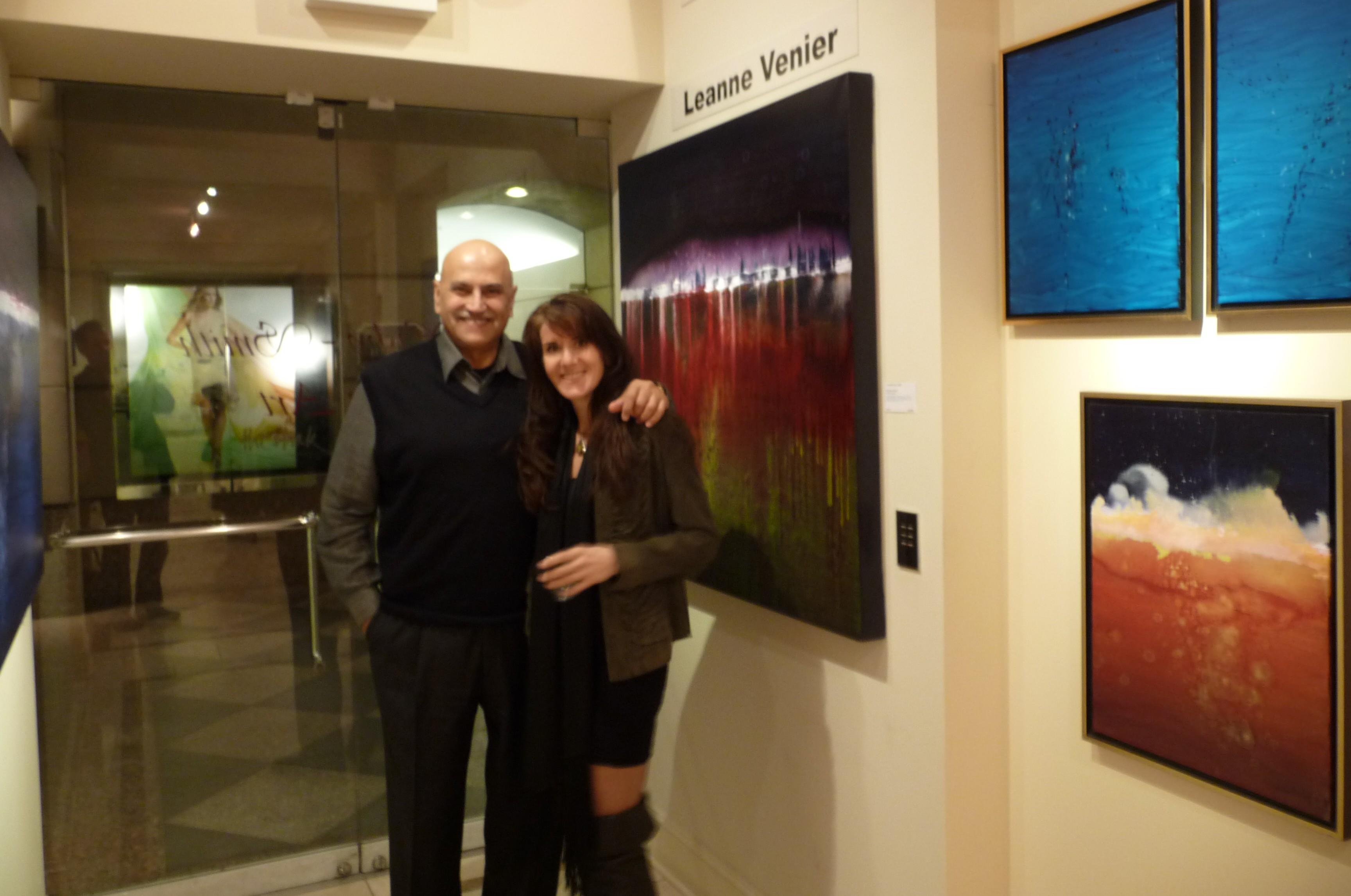 Leanne Venier with Wisby Smith Gallery owner, Nim Vaswani